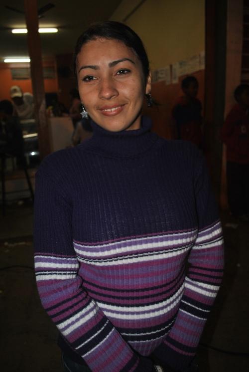 Feirante Vanessa Dorileo  Costa muito animada com o evento