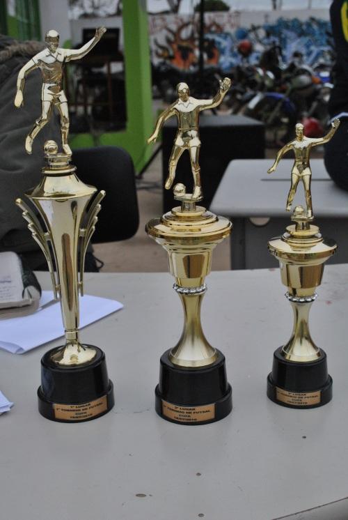 Troféus do 1° torneio de Futsal da CUFA