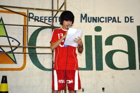 Esportista faz o juramento da 11° Copa da Juventude