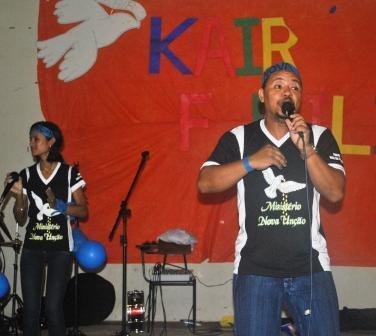 Grupo Musical Nova Unção,terceiro ministério a se apresentar
