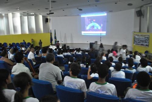 Apresentação do vídeo Institucional da CUFA e o Projeto Pixaim nas Escolas no Auditório da SEDUC-MT