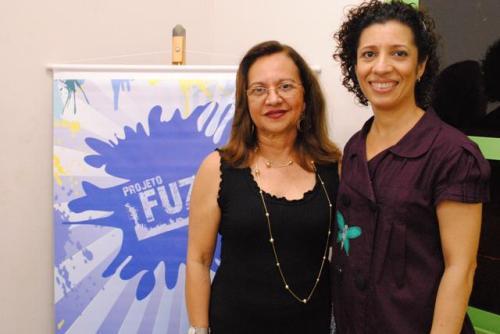 Cilene Maria (SME) e Mazé Oliveira coordenadora do Projeto Fuzuê
