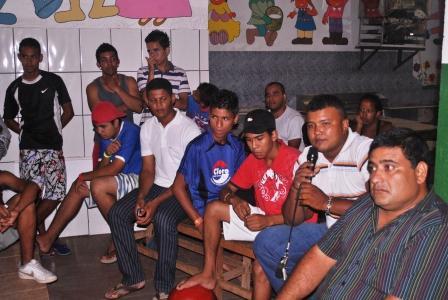 Discussão aberta  no 1º Fórum realizado na Escola Ana Luiza,bairro Osmar Cabral