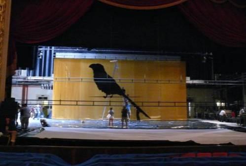 Montagem da estrutura do evento no Teatro Municipal no Rio de Janeiro