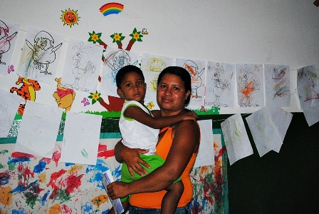 Maria José, moradora do bairro Novo Milênio, mãe do Daniel